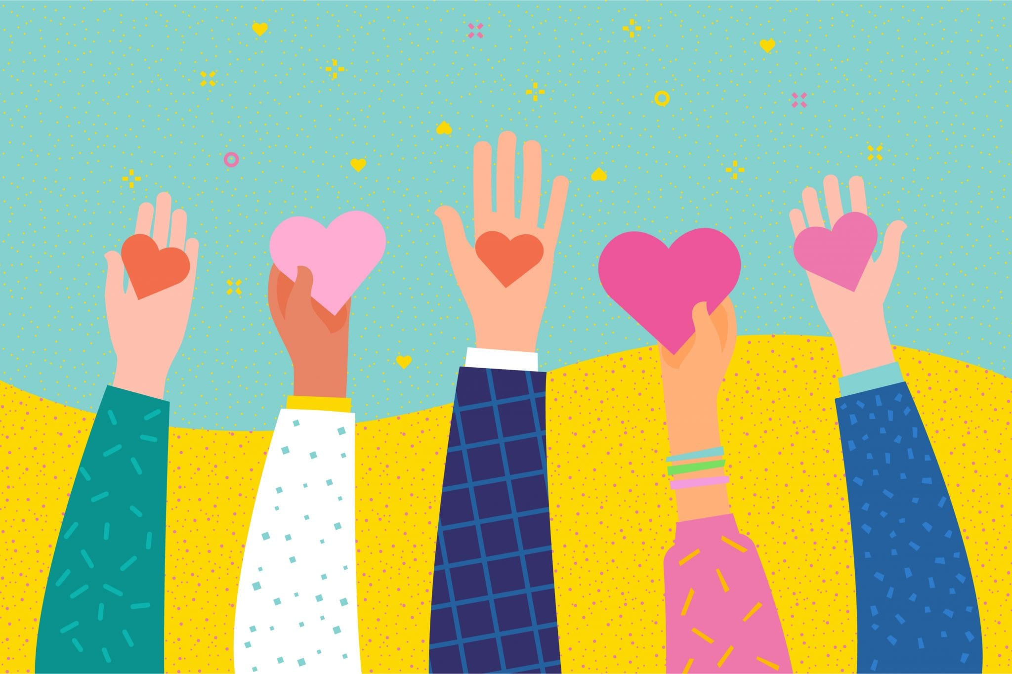 Concept of Charity and Donation. Give and Share Your Love to People. Hands Holding a Heart Symbol.