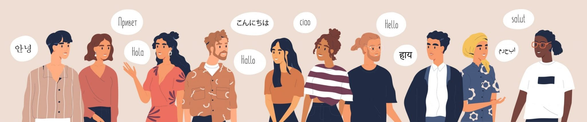 People Saying Hello in Different Languages.